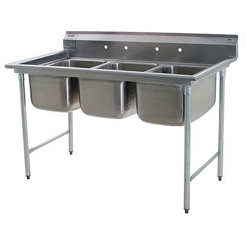 Eagle Group 414-24-3, Stainless Steel Commercial Compartment Sink with Three 24-Inch Bowls, NSF