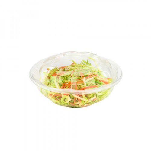 SafePro 48SW150, 48 Oz Clear PET Swirl Bowl with Swirl Lid Combo, 150/CS