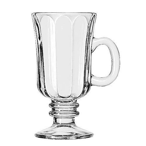Libbey 5294, 8.25 Oz Irish Glass Coffee Mug, Optic Design, 24/Cs