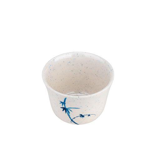 Thunder Group 9152BB 5 Oz 3 1/8 Inch Asian Blue Bamboo Melamine White Tea Cup, DZ