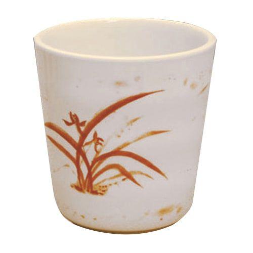 Thunder Group 9753GD 8 Oz 3 1/8 Inch Asian Gold Orchid Melamine Mug, DZ