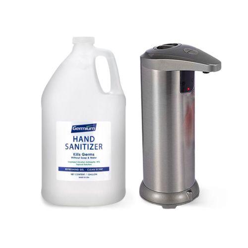 Sanitizing Kit-4.2: Gel Hand Sanitizer and Dispenser