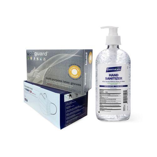 Protection Kit-9: Gloves, Face Masks, Gel Hand Sanitizer