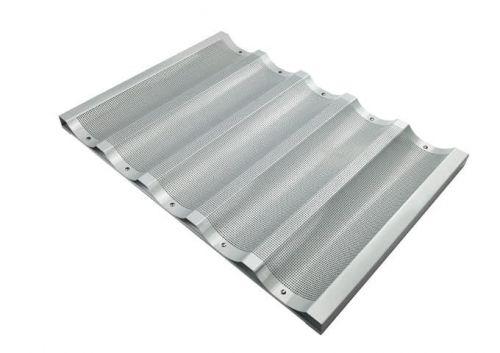 Winco ABP-5W, 18x26-Inch 5 Slot Wide Aluminum Baguette Pan, NSF (Discontinued)
