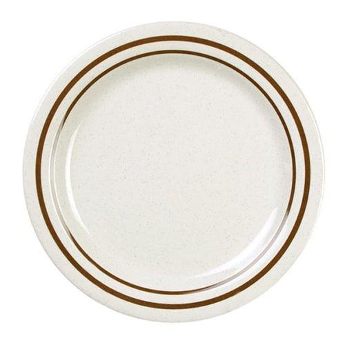 Thunder Group AD107AA 7 1/2 Inch Western Arcadia Melamine Beige Dinner Plate, DZ