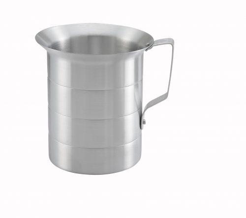 Winco AM-4, 4-Quart Aluminum Measuring Cup