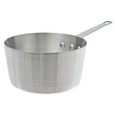 Winco ASP-8SW, 8.5-Quart Tri-Ply Stainless Steel Straight-Sided Sauce Pan w/о Lid, Natural Finish, NSF