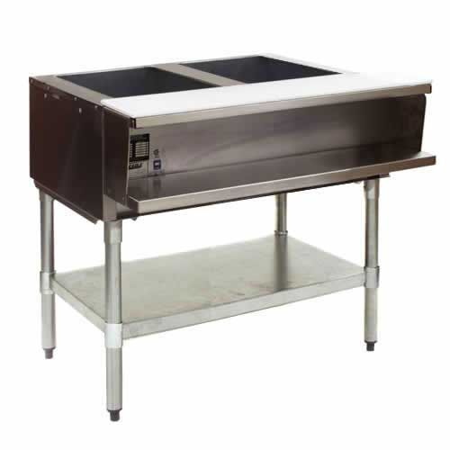 Eagle Group AWT2-NG, 33 inch 2-Well Water Bath Gas Steam Table