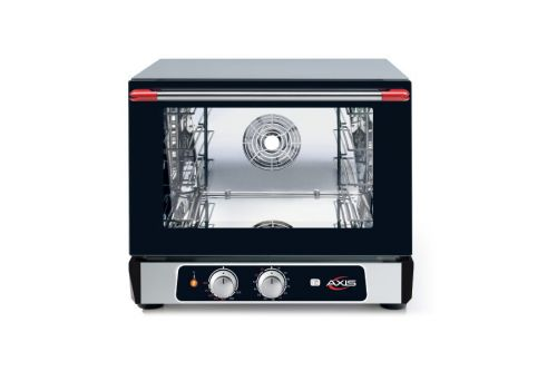Axis AX-513RH, Countertop Convection Oven, Half Size Pan, 3 Shelves, Manual Controllers