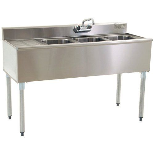 Eagle Group B5L-18, 5-Ft 3-Compartment Under Bar Sink with Left Drainboard, NSF, KCL