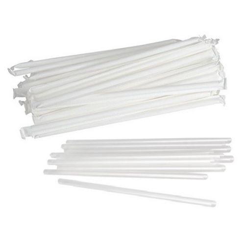 Karat C9095-X, 10.25-inch Jumbo Kraft Clear Wrapped Straws, 500/PK