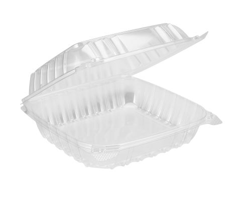 Dart C90PST1, 8x8x3-Inch ClearSeal Clear Sandwich OPS Container with a Hinged Lid, 250/CS