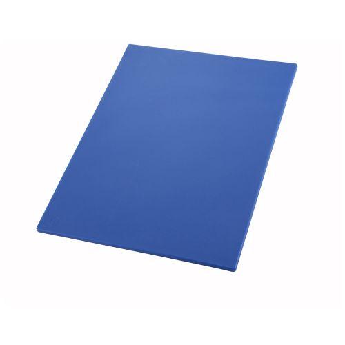 Winco CBBU-1520, 15x20x0.5-Inch Blue Cutting Board for Seafood