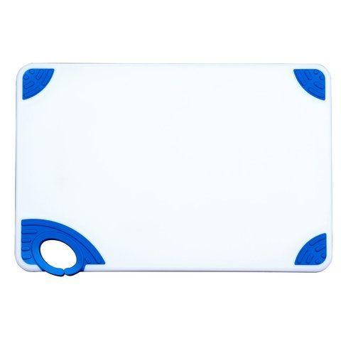 Winco CBN-1218BU, 12x18x0.5-inch Cutting Board with Blue Hook, NSF