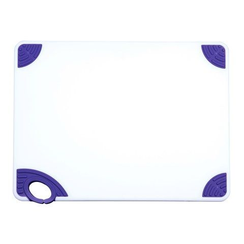 Winco CBN-1824PP, 18x24x0.5-Inch Cutting Board with Purple Hook, NSF