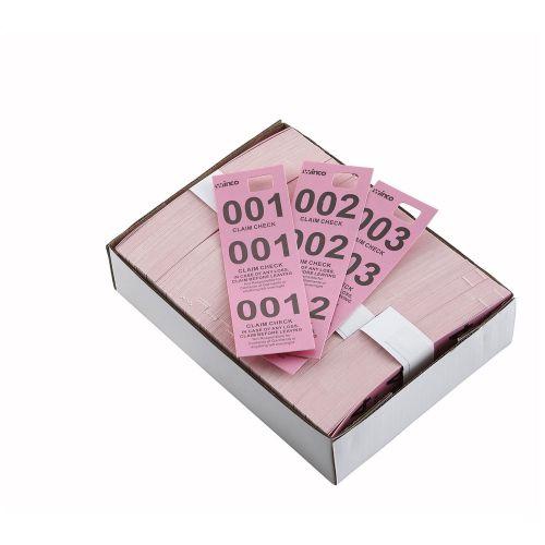Winco CCK-5PK, Pink Coat Check Tags, 500/CS
