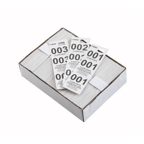 Winco CCK-5WT, White Coat Check Tags, 500/CS