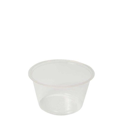 Vegware CF7054, 4-Ounce PLA Cold Portion Cup, 2000/CS, ASTM, BPI, Cedar Grove, OK Compost