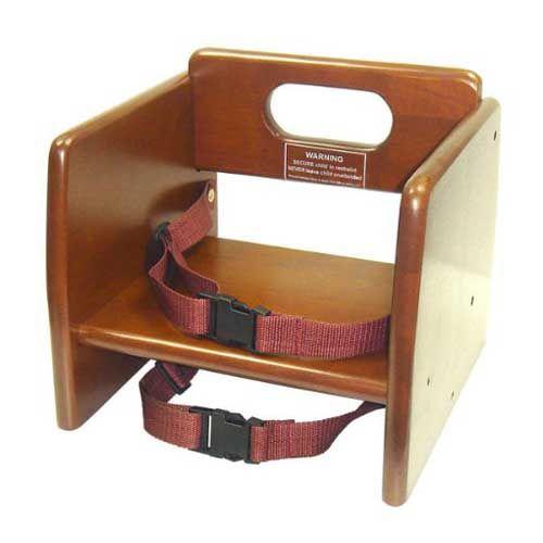 Winco CHB-704, Wood Booster Seat, Walnut