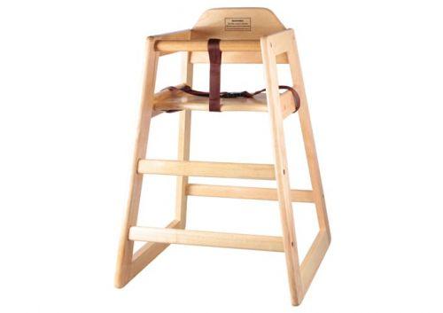 Winco CHH-101, Natural Wood High Chair