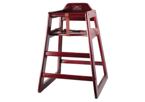 Winco CHH-103A, Stacking Assembled High Chair, Mahogany