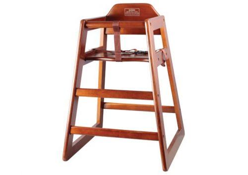 Winco CHH-104A, Stacking Assembled High Chair, Walnut