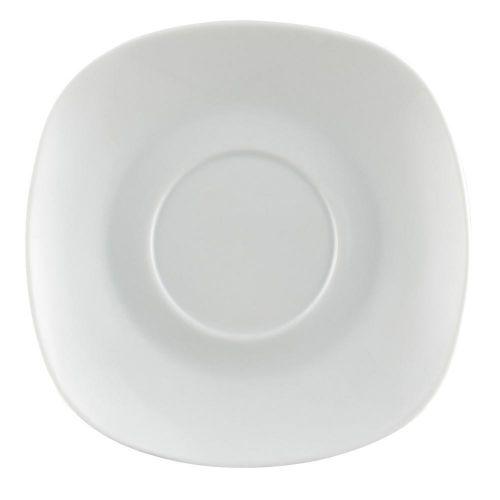 C.A.C. COP-SQ2, 5.75-inch White Square Saucer for COP-SQ1, 3 DZ/CS