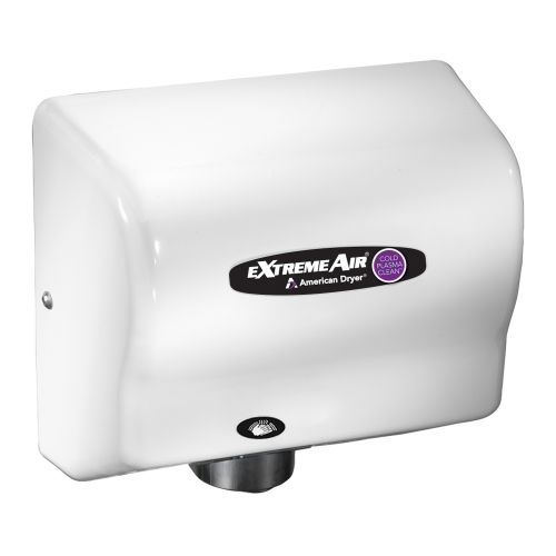 American Dryer CPC9, Adjustable High Speed Hand Dryer, Cold Plasma Technology, White ABS Cover