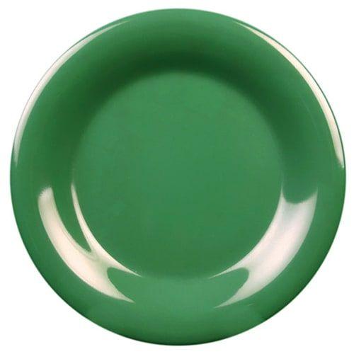 Thunder Group CR005GR 5 1/2 Inch Western Green Wide Rim Melamine Plate, DZ