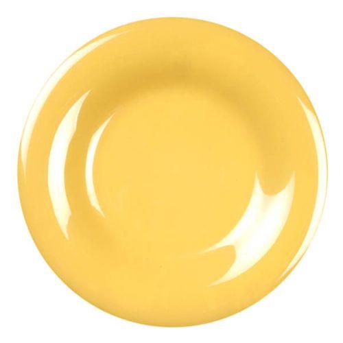 Thunder Group CR007YW 7 5/8 Inch Western Yellow Wide Rim Melamine Plate, DZ