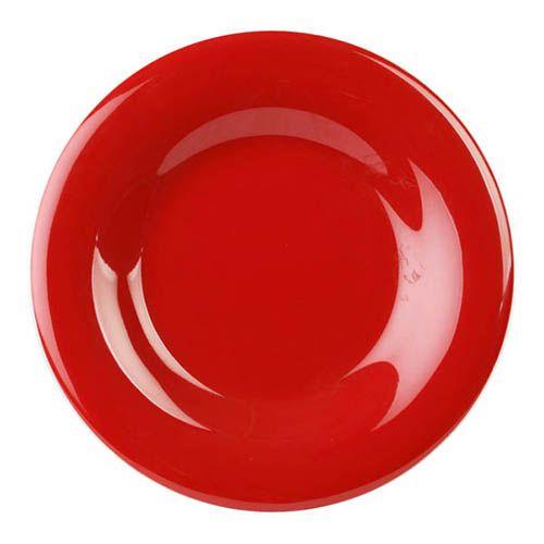 Thunder Group CR009PR 9 1/4 Inch Western Red Wide Rim Melamine Plate, DZ