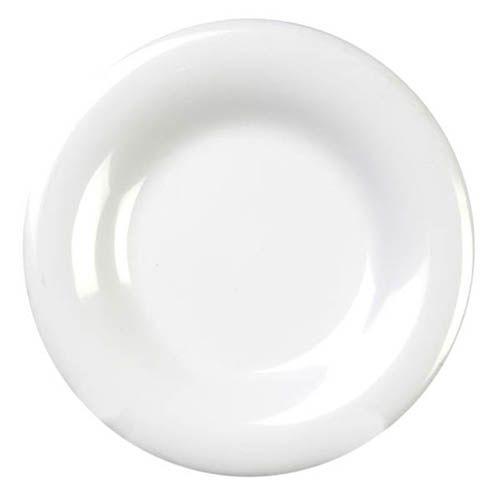 Thunder Group CR010W 10 1/2 Inch Western White Wide Rim Melamine Plate, DZ