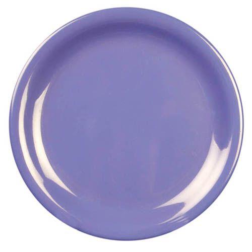Thunder Group CR106BU 6 1/2 Inch Western Purple Narrow Rim Melamine Plate, DZ