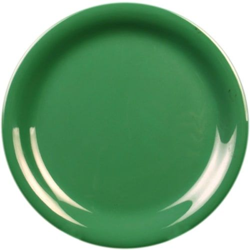 Thunder Group CR106GR 6 1/2 Inch Western Green Narrow Rim Melamine Plate, DZ