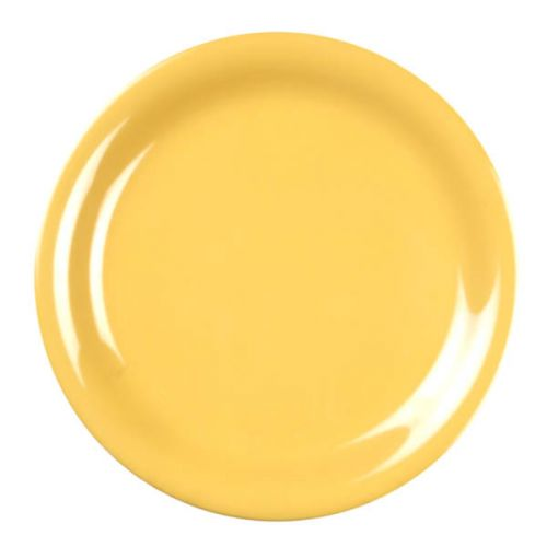 Thunder Group CR110YW 10 1/2 Inch Western Yellow Narrow Rim Melamine Plate, DZ