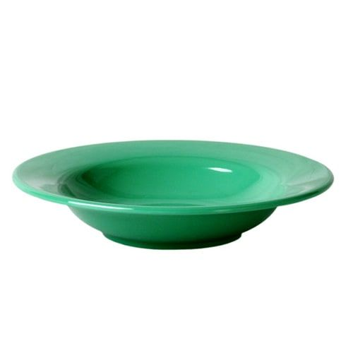 Thunder Group CR5077GR 8 Oz 7 3/4 Inch Western Green Melamine Wide Rim Salad Bowl, DZ