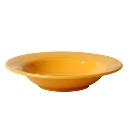 Thunder Group CR5077YW 8 Oz 7 3/4 Inch Western Yellow Melamine Wide Rim Salad Bowl, DZ