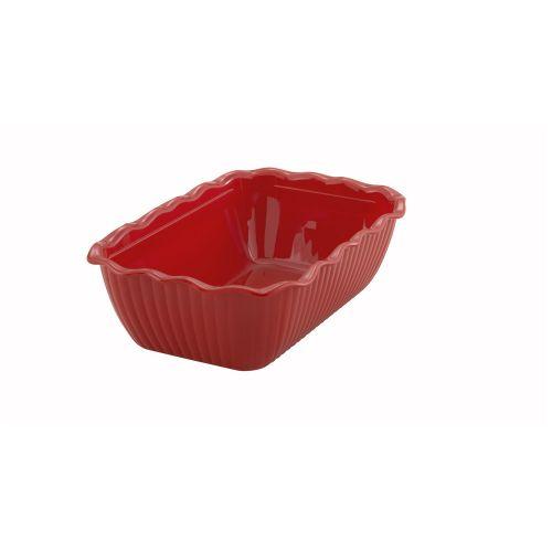 Winco CRK-10R, 10x7x3-Inch Medium Red-Colored Deli Crock