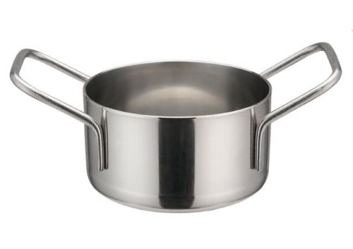 Winco DCWE-102S, 3-1/8-Inch Dia Stainless Steel Mini Casserole Pot, 2 Handles