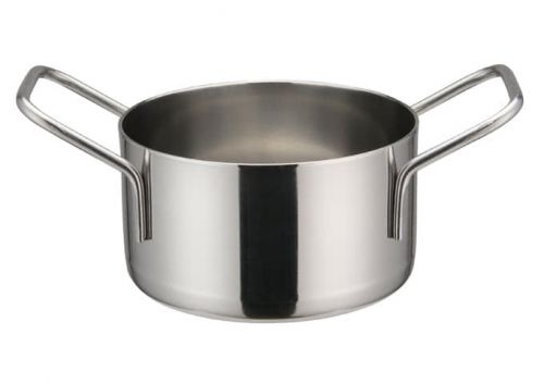 Winco DCWE-103S, 3-1/2-Inch Dia Stainless Steel Mini Casserole Pot, 2 Handles