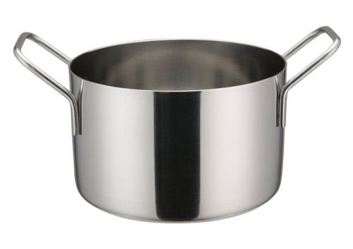 Winco DCWE-105S, 4-3/4-Inch Dia Stainless Steel Mini Casserole Pot, 2 Handles