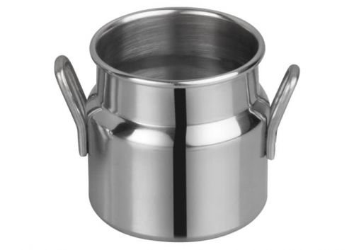 Winco DDSD-101S, 2-Inch Dia Stainless Steel Mini Milk Can, 2 Handles