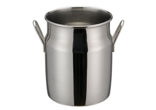 Winco DDSD-103S, 4-Inch Dia Stainless Steel Mini Milk Can, 2 Handles