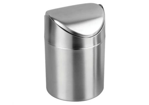 Winco DDSF-101S, 4-3/4-Inch Dia Stainless Steel Mini Waste Can