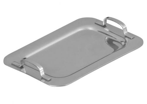 Winco DDSH-102S, 5-1/4-Inch Dia Stainless Steel Mini Serving Platter, 2 Handles