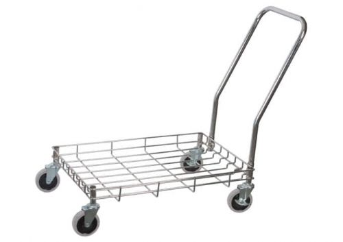 Winco DWR-2617, 27х18-Inch Stainless Steel Wire Dolly for Dough Boxes, EA