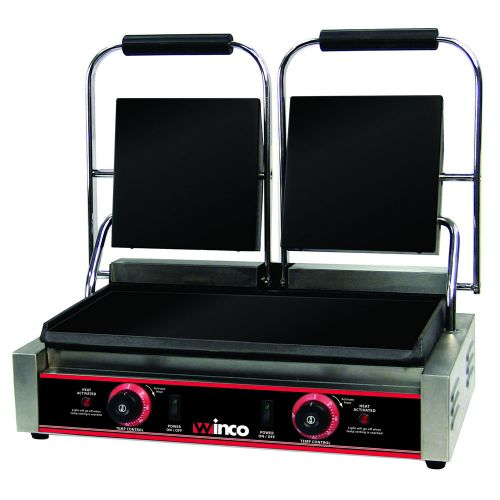Winco ESG-2, Electric Sandwich Grill with Dual 9-Inch Flat Plates