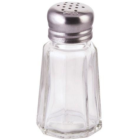 Winco G-105, 1-Ounce Glass Shaker with Mushroom Top, 1 Dozen
