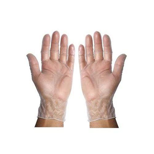 Winco GLV-L, Large Pre-Powdered Vinyl Disposable Gloves, 100/CS