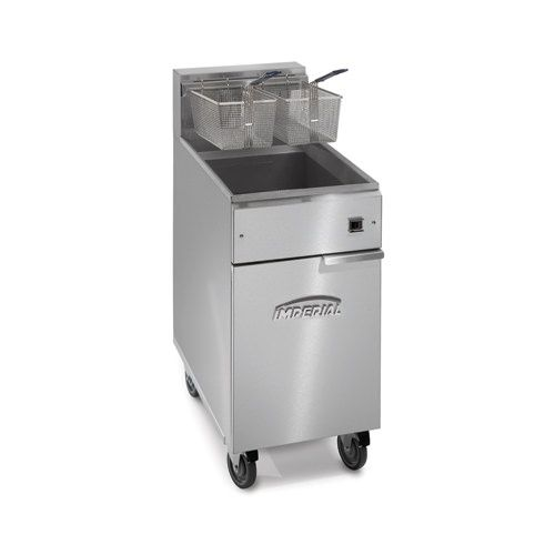 Imperial IFS-75-E, 2-Basket Floor Electric Fryer, NSF, ETL, CSA, CE (Casters are not included)